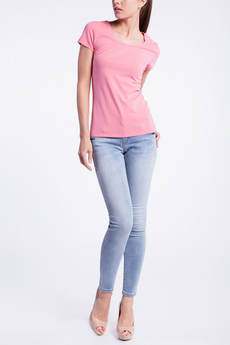 Однотонная розовая футболка CONVER со скидкой