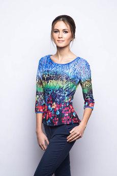 Гипюровая блузка с цветами Marimay