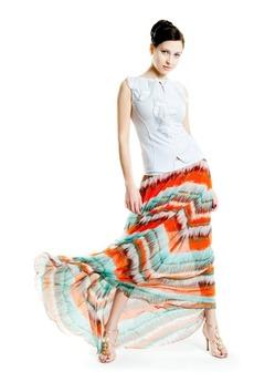 Длинная шифоновая юбка Авторская одежда SUGAR