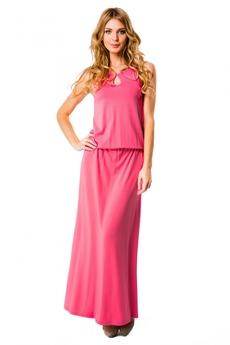 Розовое длинное платье Mondigo