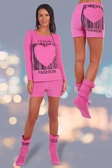 Махровый костюм: свитшот, шорты и сапожки Натали со скидкой