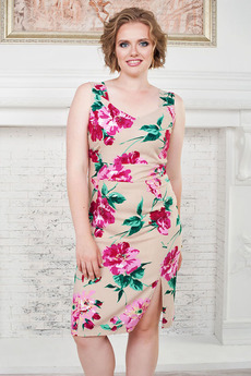 Платье с розовыми цветами Angela Ricci