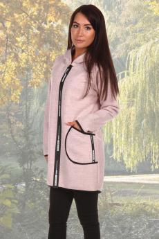 Пальто-толствка пудрового цвета Натали