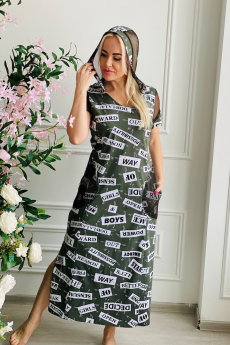Летнее платье с капюшоном Натали